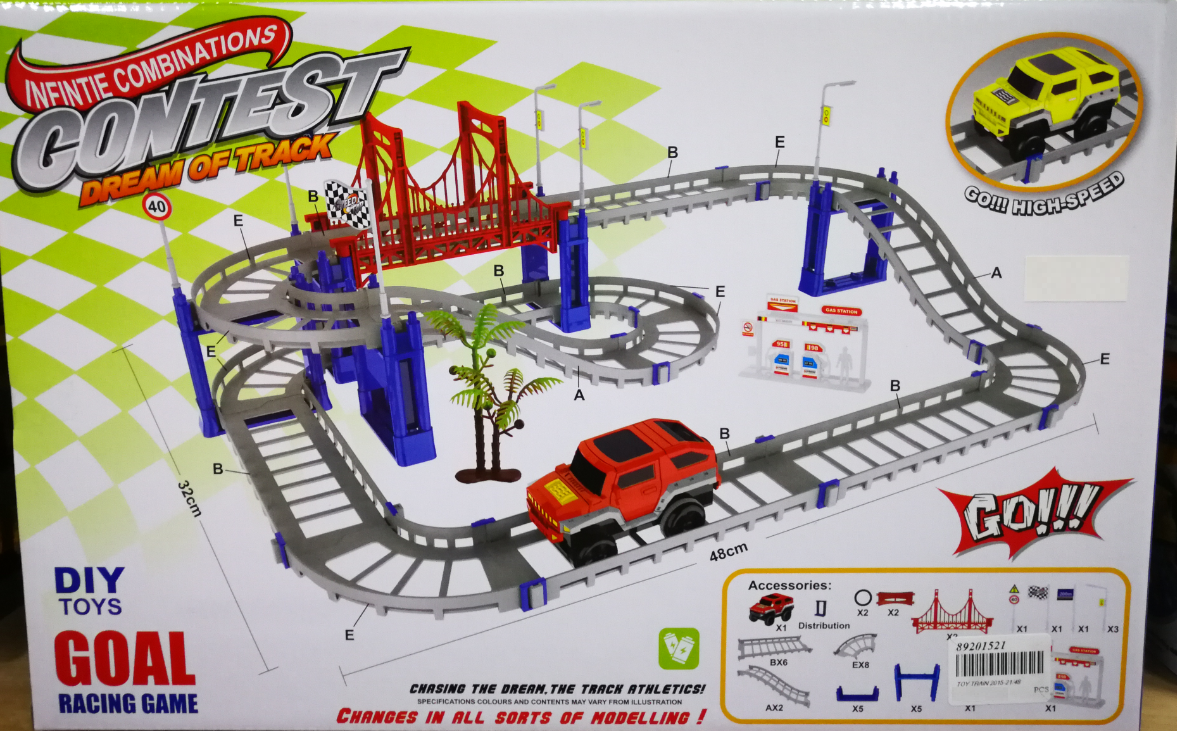 Kids Toy - Infinite Combinations Contest Dream Of Track Car Toys Set For Kids