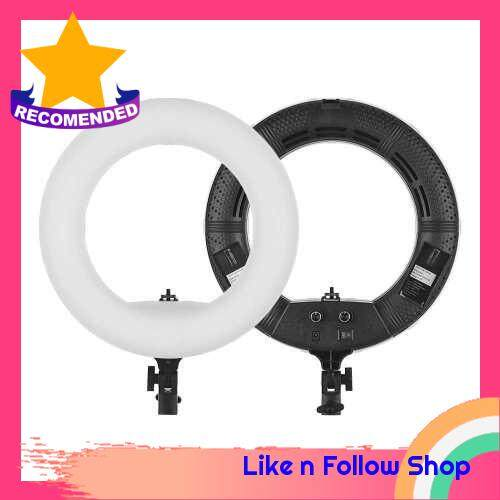 LED Ring Light 192 Pieces LEDs Anchor Live Light 3200K to 5500K Color Temperature 38W Power Ring Video Lamp for Makeup Camera Phone Video Shooting Pink (Black)