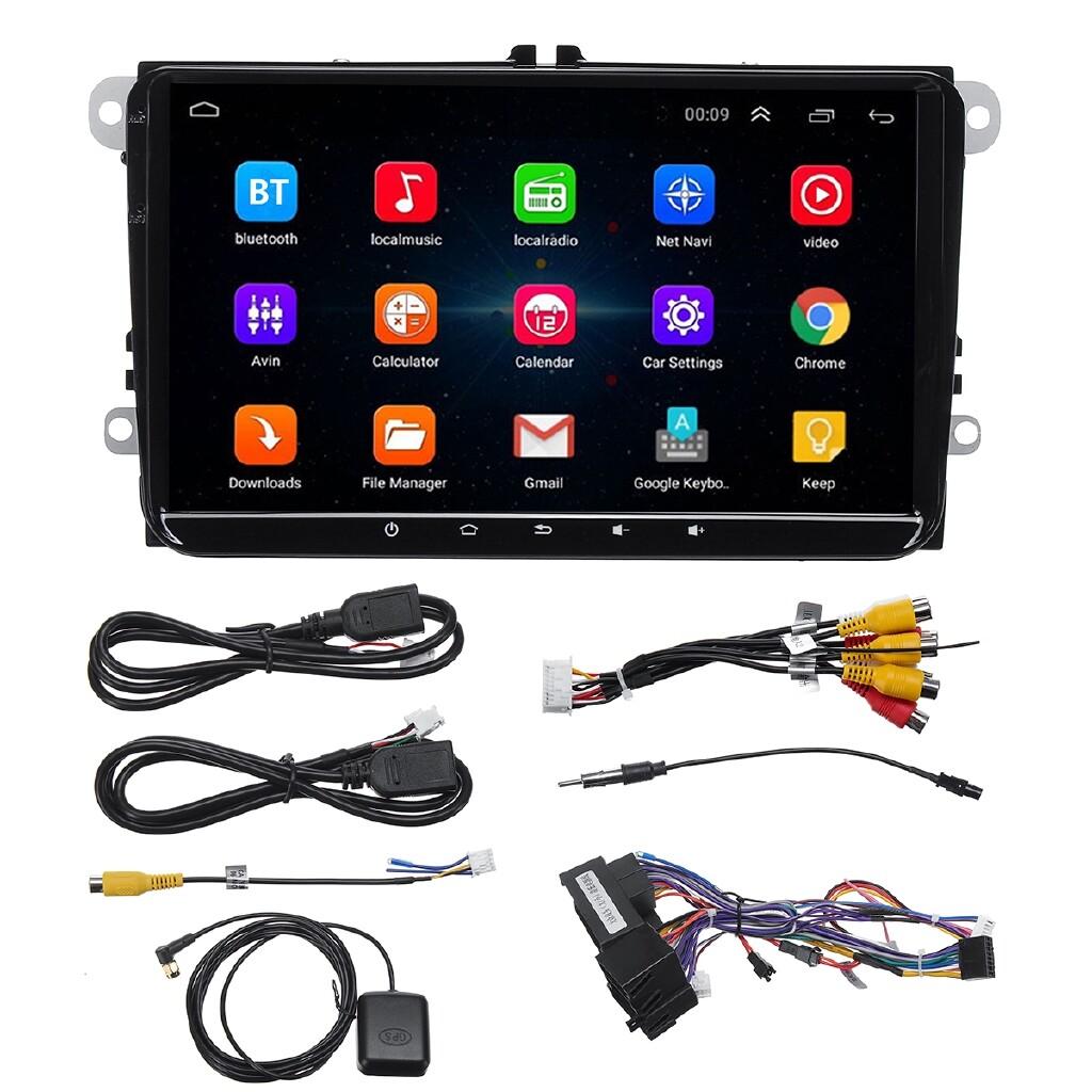 Car Multimedia Players - 9 Android 8.1 Car Stereo Radio Navi Player For VW Skoda Polo Golf Tiguan Jeta - Electronics