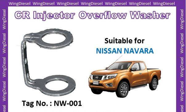 Common Rail Injector Overflow Washer for Nissan Navara Tag No NW-001