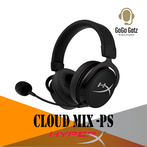 {HX-HSCAM-GM}{Ship Out Within 24 Hours} HyperX Cloud Mix Headphone Wired Gaming Headset + Bluetooth with Hi-Res Audio