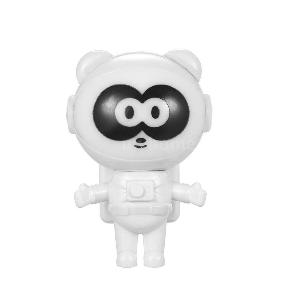 Lighting - Spaceman Astronaut Panda Shape LED MINI Night Light Keyboard Lamp USB Charging Port Design Flexible - WHITE