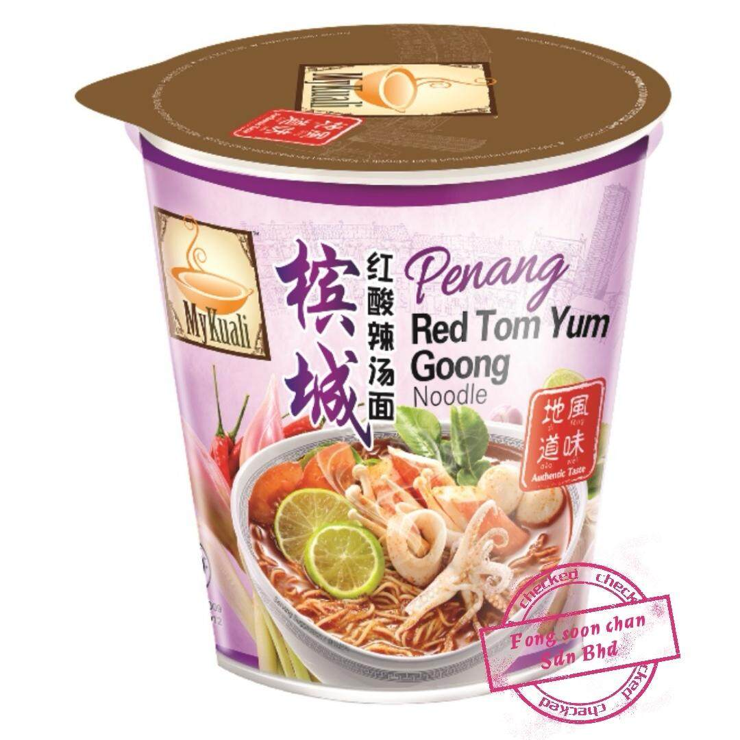 [FSC] Mykuali Red Tom Yum Goong(Cup)Noodles 85gm x 6cup