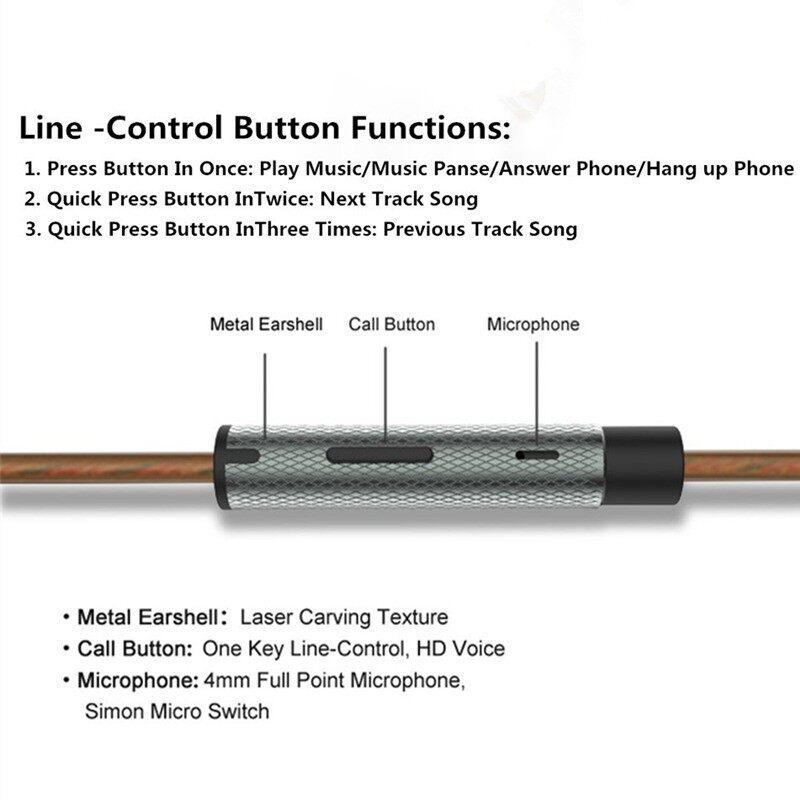 PLEXTONE X35M Earphone Gaming PUBG Mobile 3.5mm in-ear Headphones Metal Bass head SET for xiaomi - BLACK / GRAY / GOLD