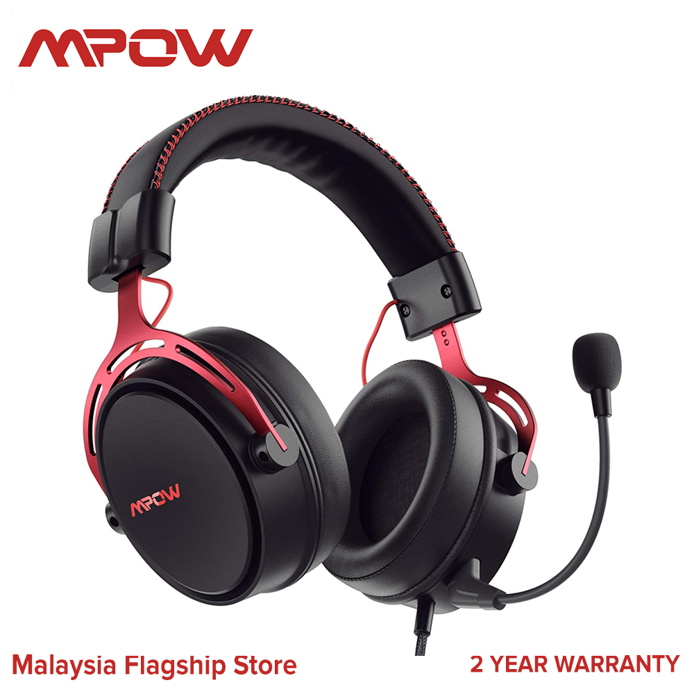 Mpow Air SE Gaming Headset for Xbox One PS4 PS5 PC Switch - Gaming Headphones with Fixed Mic, Over-Ear Gaming headsets with 3D Surround Sound, in-Line Control & High End Quality