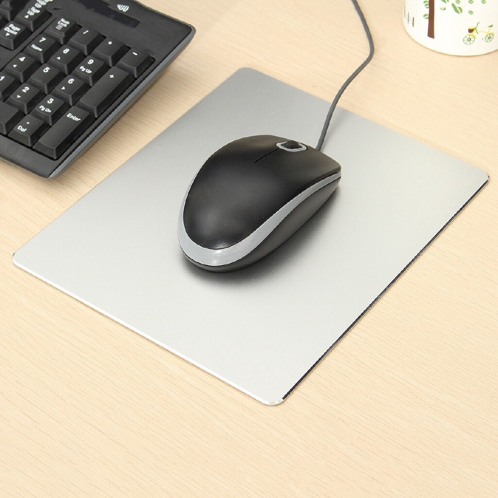 Mousepads - Fashion Aluminum Mousepad Game Super Smooth Mouse Pad for Macbook Apple HP Dell - SILVER / GOLD