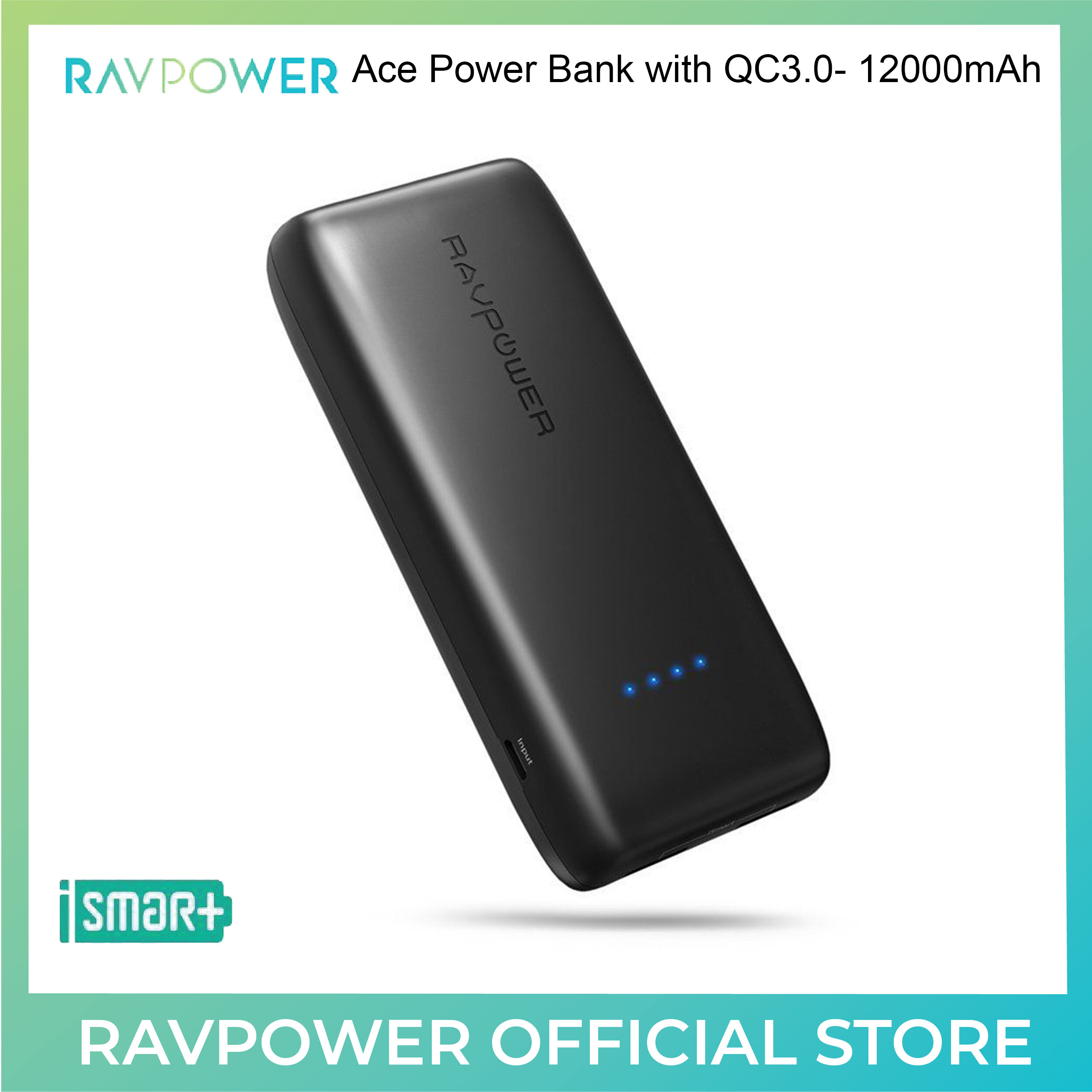 RAVPower Ace Power Bank with QC3.0 - 12000mAh