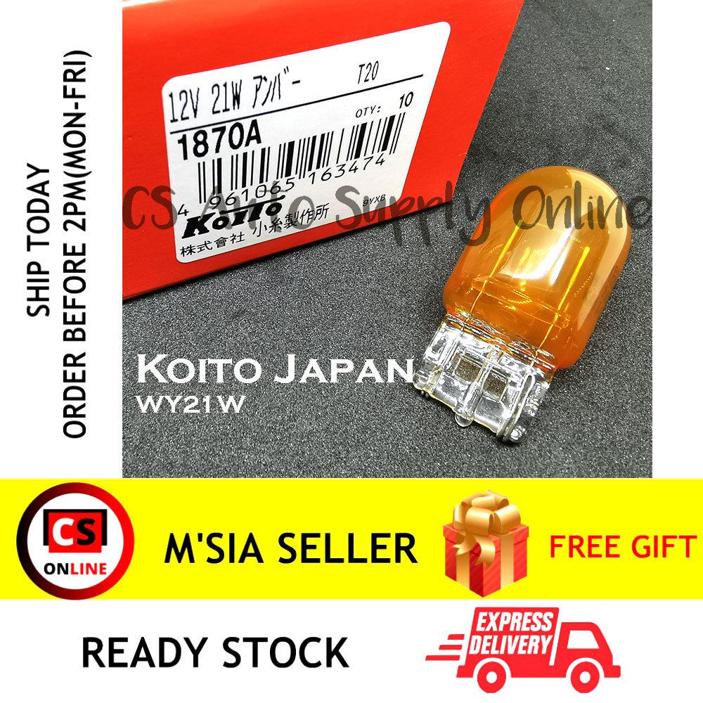 [Cs auto] 1pc x Koito 12V T20 WY21W Bulb Signal light Amber Yellow
