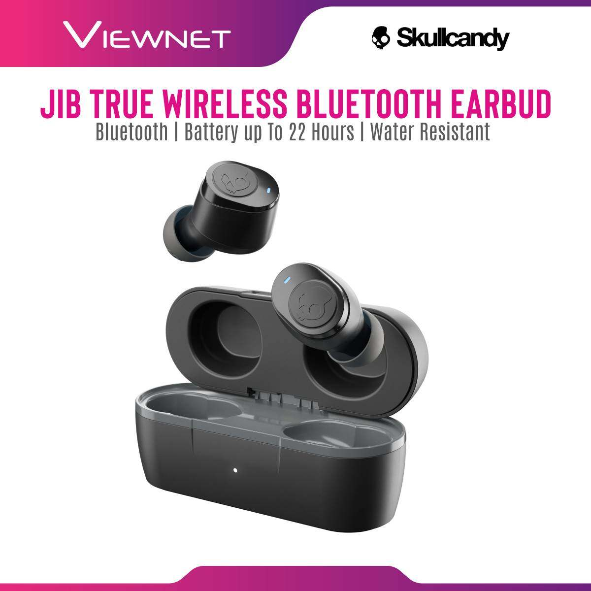 Skullcandy JIB Ture wireless Bluetooth with IPX4 Sweat and Water Resistant , 22 Hours Total Battery