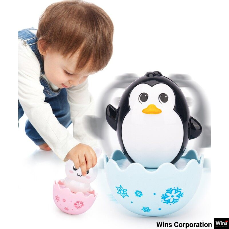 Baby Cartoon Tumbler Safe ABS Early Education Toys for Baby