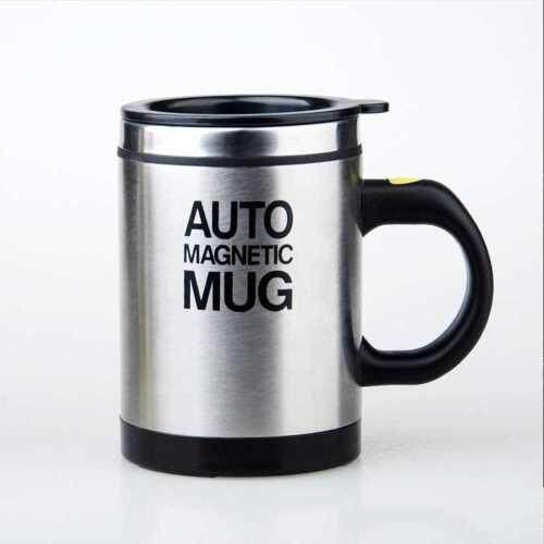 Automatic Magnetic Mug 400ML Insulated Stirring Mix Mug (Black)