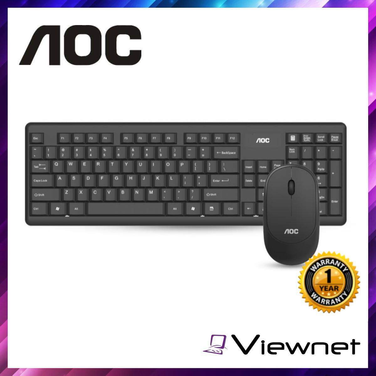 AOC KM200 Wireless Keyboard and Mouse Combo, Bluetooth, Quiet clicks & Anti-Skid Roller, Simple & Convenient
