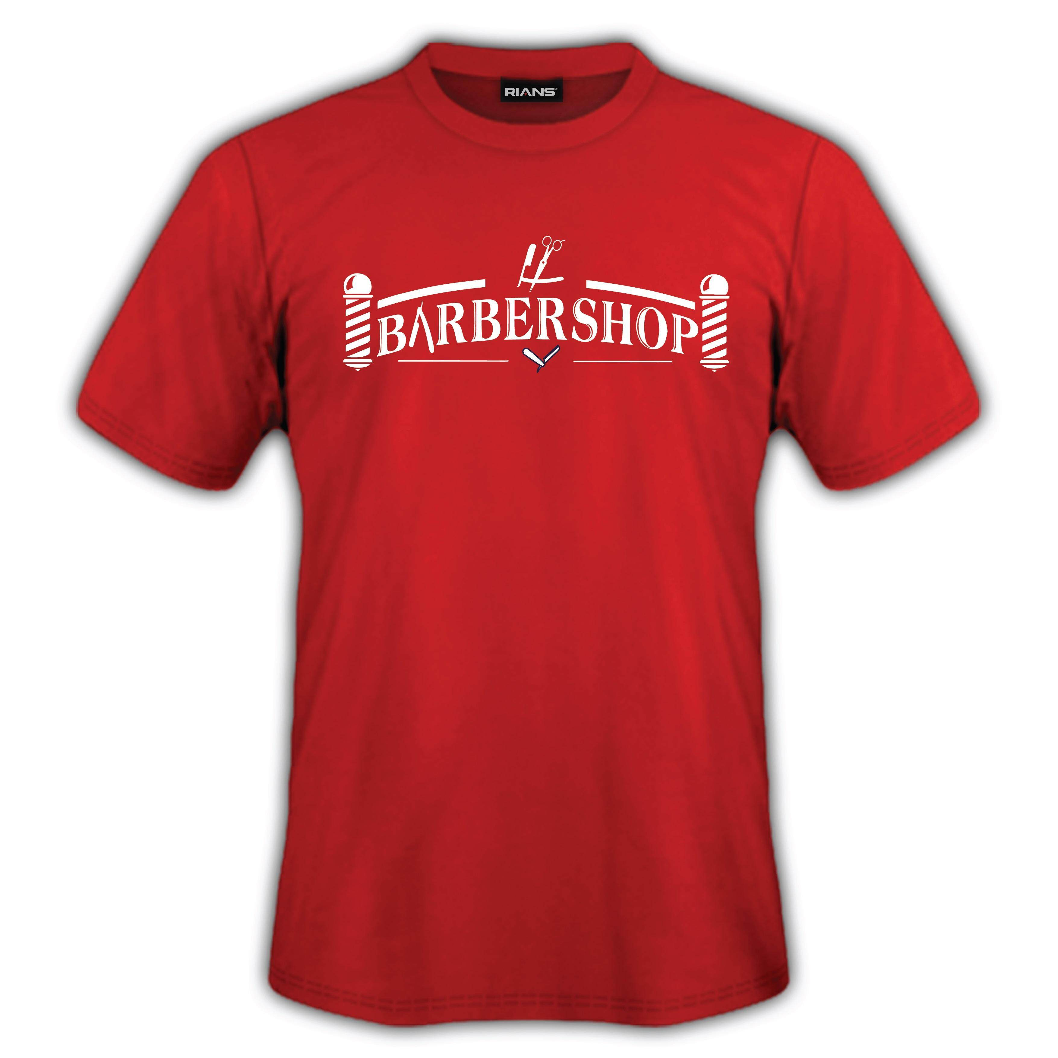 T-Shirt Barber Shop 4 Colour 100% Cotton Baju Tshirt Black White Hitam Putih Bossku