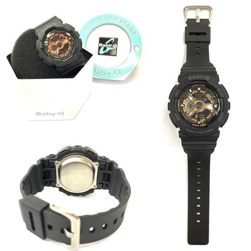 {HOT SALE} New Sport BABY_BA-110 Dual Time Display Resin Band Women\'s Watch New Fashion & Affordable Price