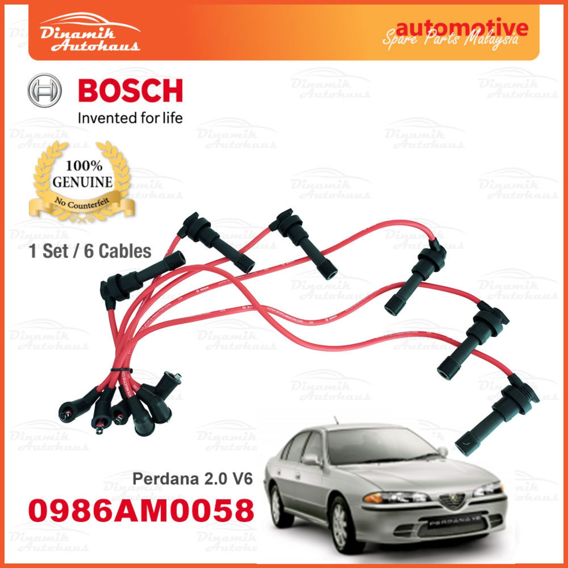 Proton Perdana 2.0 V6 Ignition Leads Plug Cable Bosch M058