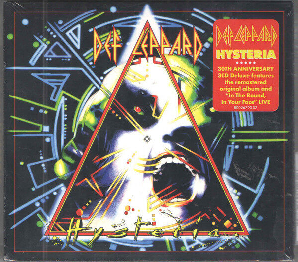 Def Leppard Hysteria 30th Anniversary 3CD Digipack Deluxe Edition