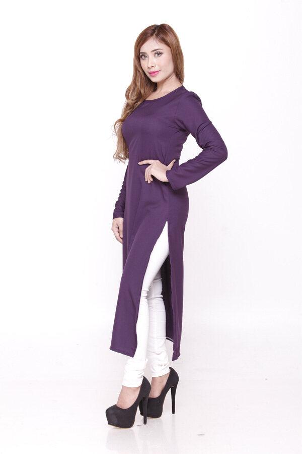 Mint Kurti Blouse (Plus Size) / Muslimah Blouse Women Fashion Modern Blouse (2XL-5XL) / Long Blouse / Raya 2021 / Ready Stock / Murah / Ship from Malaysia