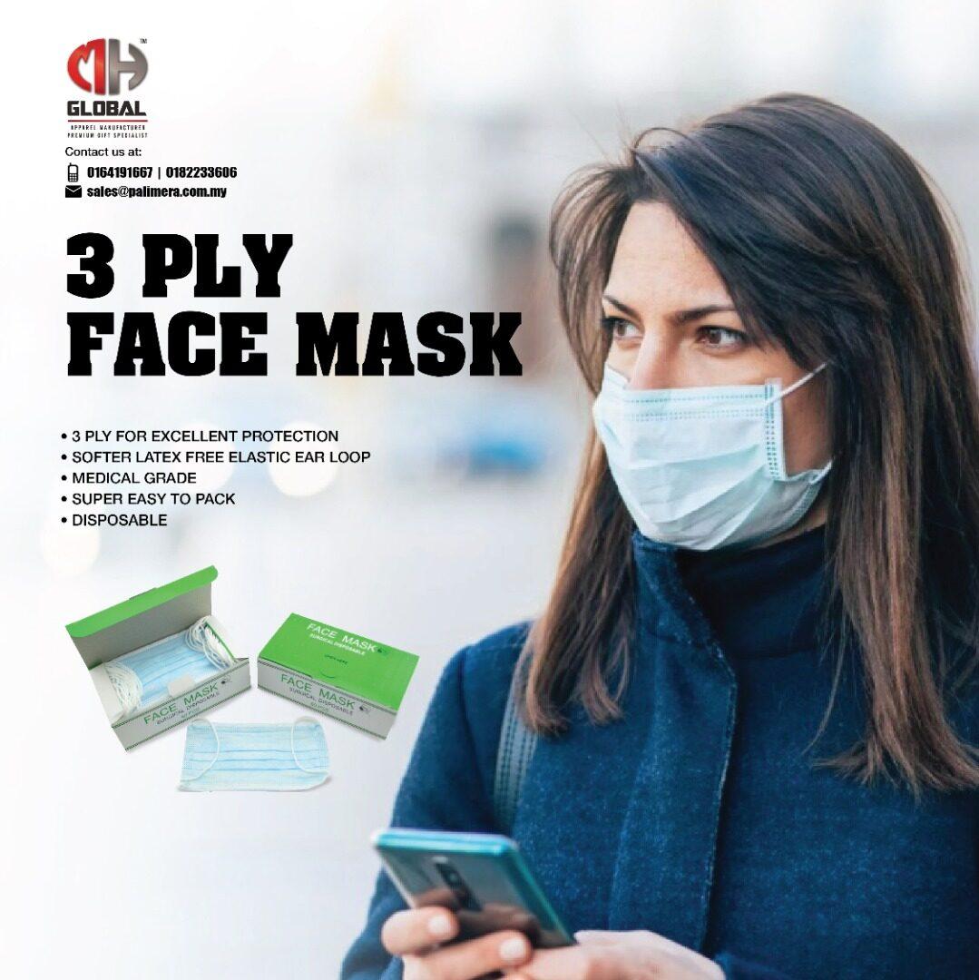 50pcs Disposable 3Ply Face Mask