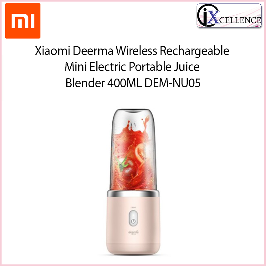 [IX] Xiaomi DEERMA Wireless Rechargeable Mini Electric Portable Juice Blender 400ML DEM-NU05 (Pink)
