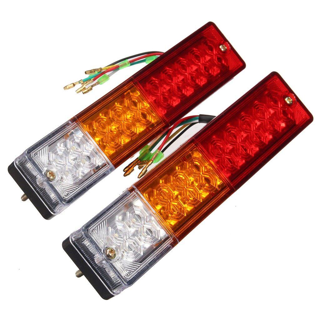 Car Lights - 2x 12V Truck Trailer Caravan LED Brake Rear Tail Reverse Light Turn Indiactor - Replacement Parts