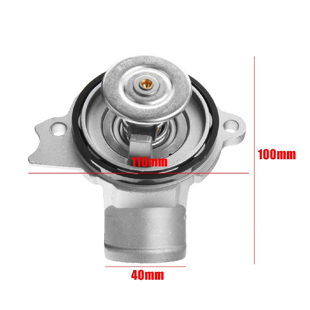 Engine Parts - FOR Mercedes-Benz M112 M113 Engine Coolant Thermostat + Aluminium Housing + Seal - Car Replacement