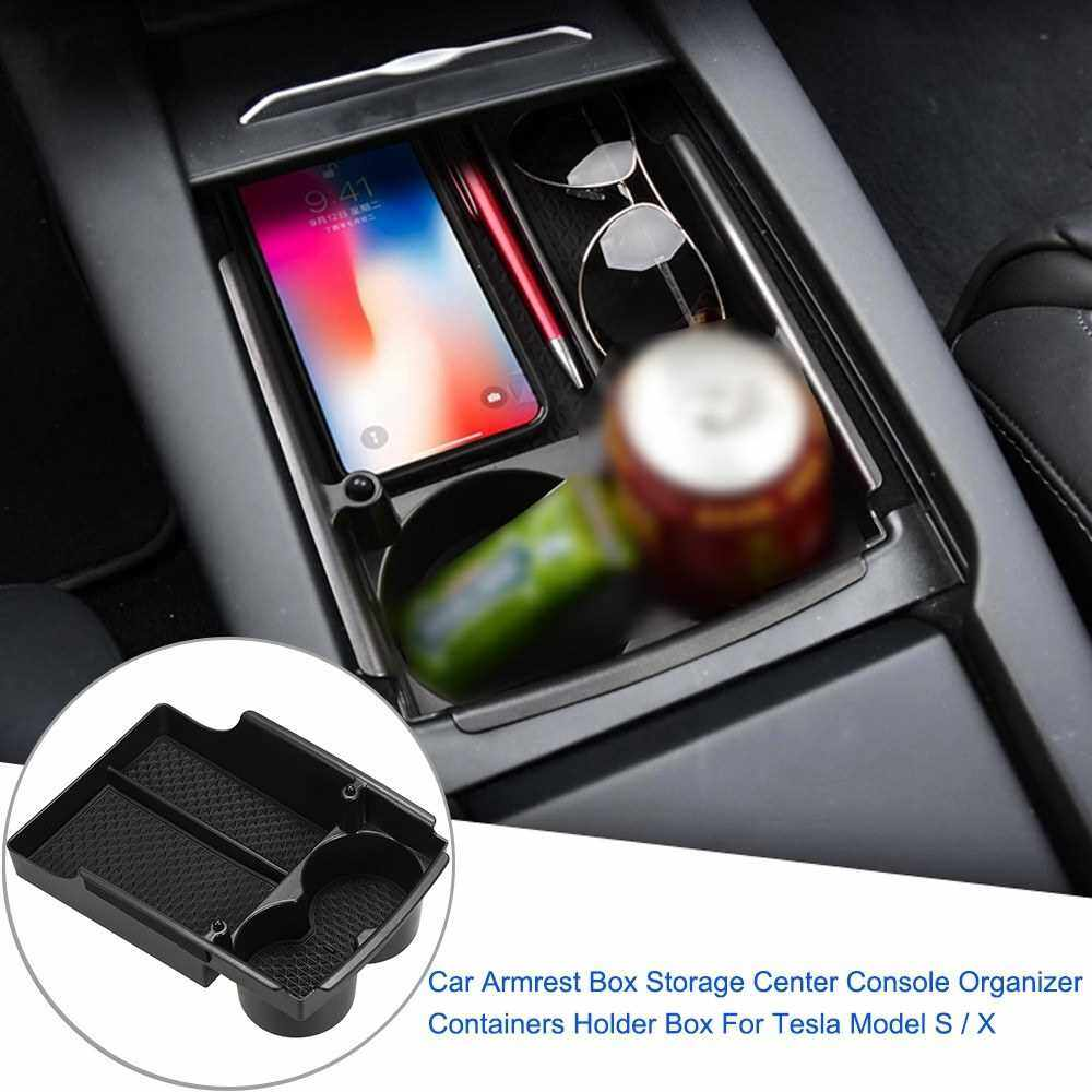 Best Selling Car Armrest Box Storage Center Console Organizer Containers Holder Box For Tesla Model S / X (Standard)