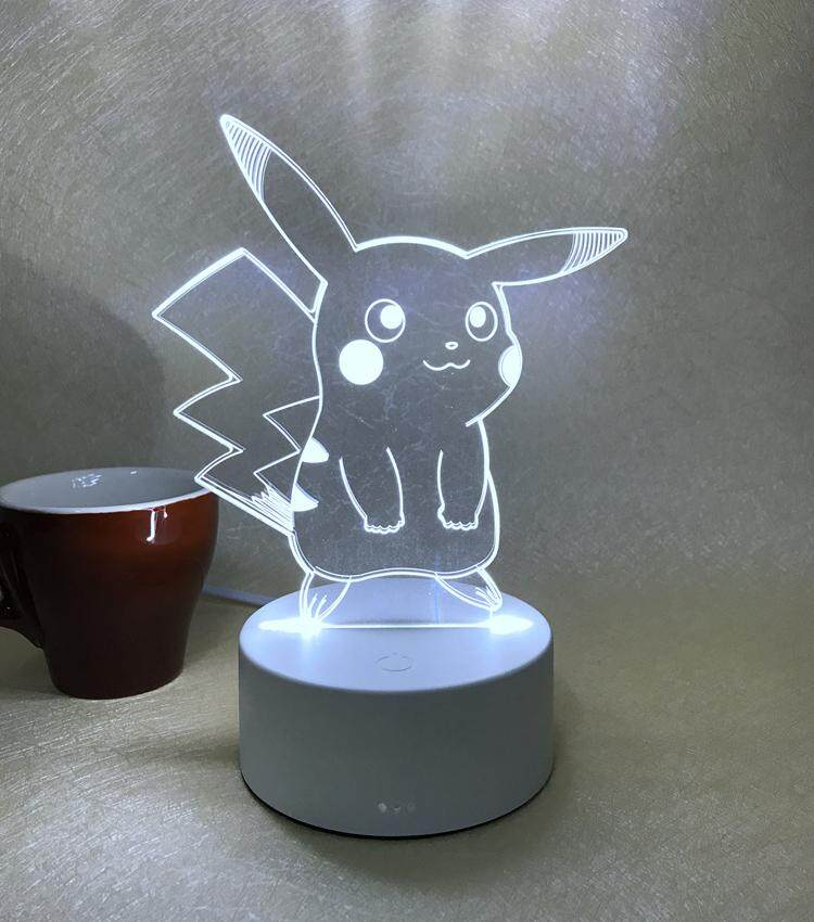 Creative Dream 3D Acrylic LED Desk Lamp Plug-in Touch Switch Bedroom Bedside Lamp Small Night Light Baby Feeding Light Mini Birthday Gift
