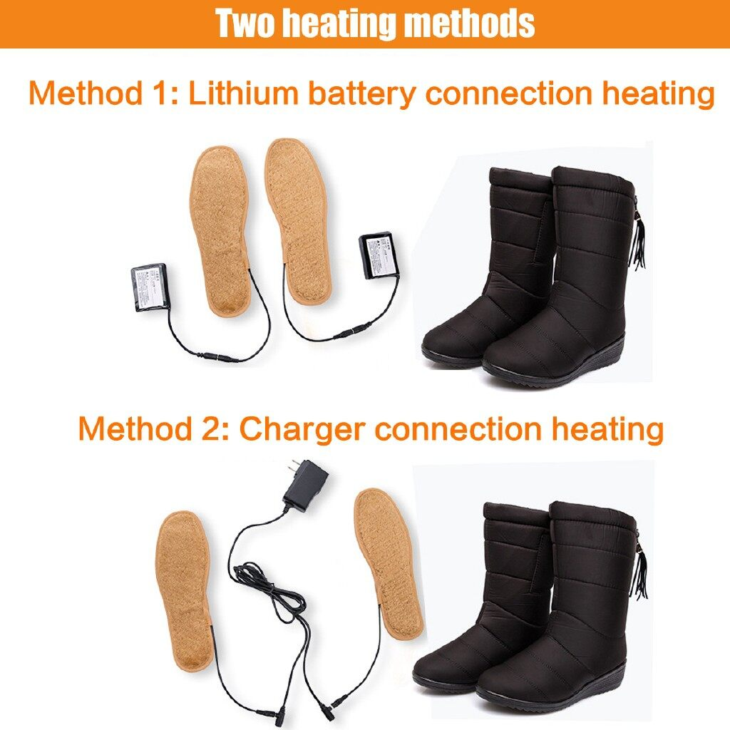 Selfie Accessories - Women 50 Electric Heated Boots Heating Shoes Winter Warm Outdoor - 37