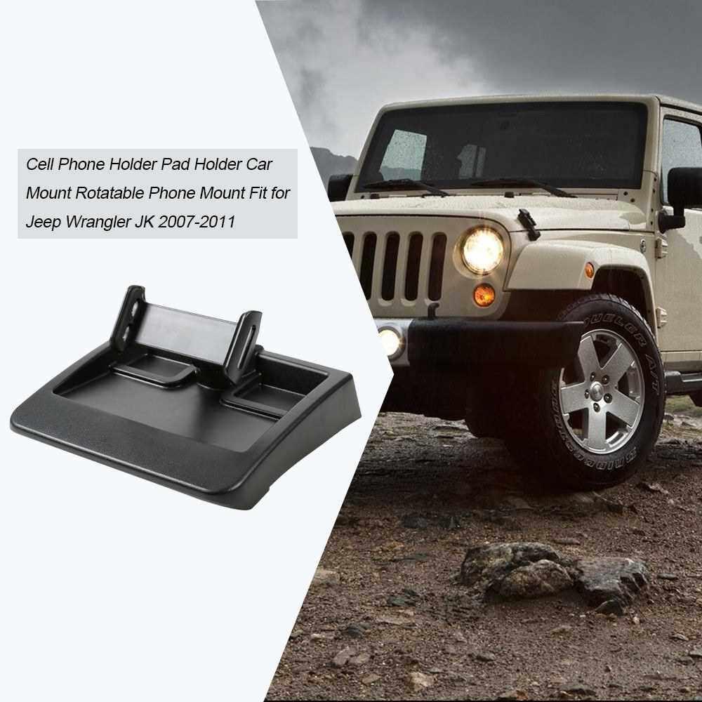 Best Selling Cell Phone Holder Pad Holder Car Mount Rotatable Phone Mount Fit for Jeep Wrangler JK 2007-2011 (Standard)
