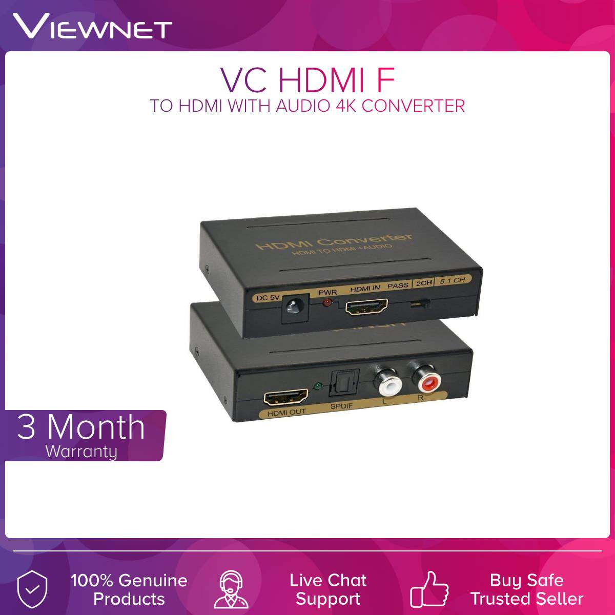 VC Hdmi To Hdmi With Audio 4K Converter