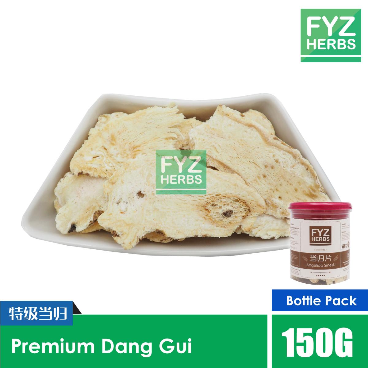 FYZ Herbs Premium Dang Gui Dong Guai Angelica Sinesis 150g [Bottle Pack] 当归原粒切片罐装 150g