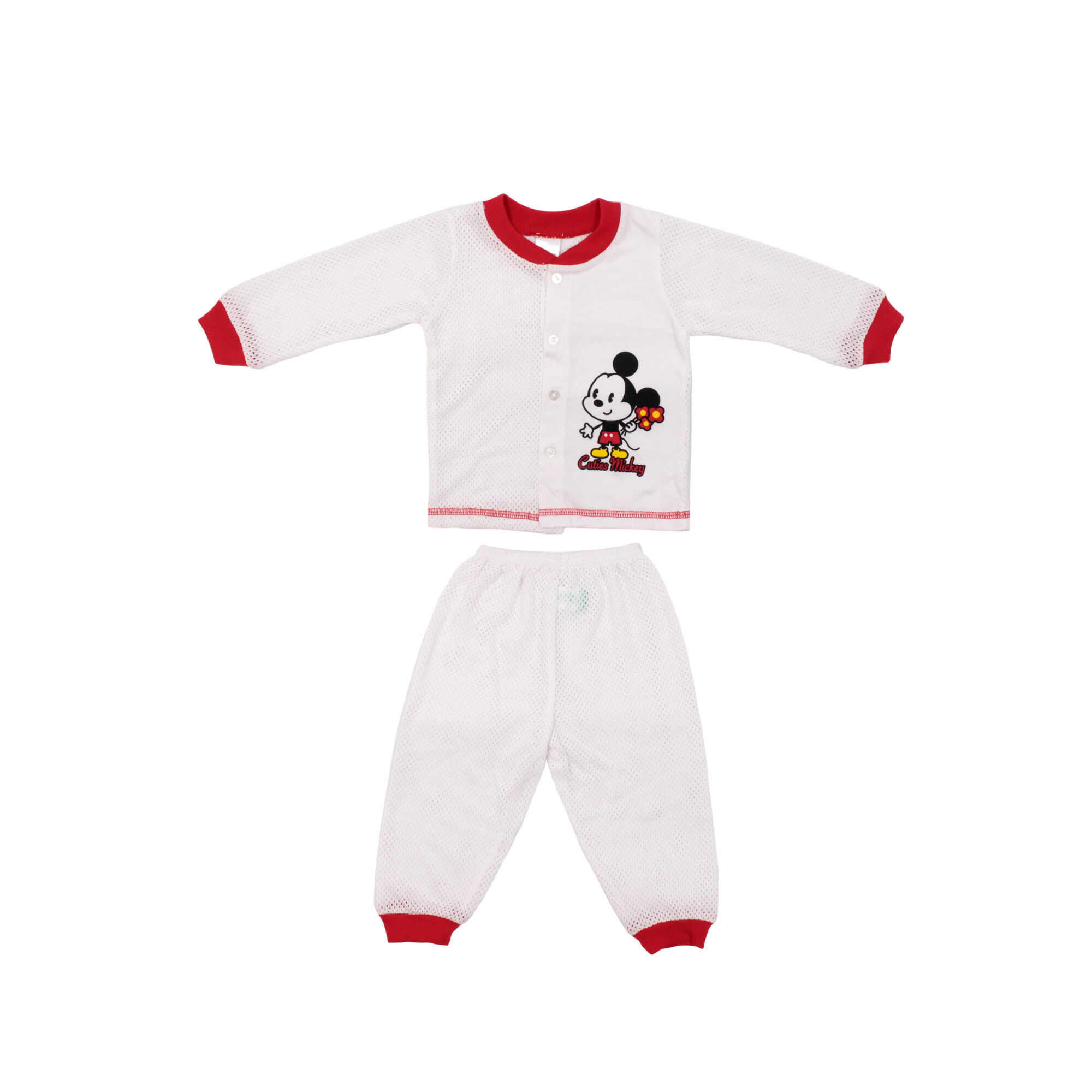 """[9.9] Disney Baby Mickey 4 Pcs Premium New Born Baby Clothes Gift Set 12- 18 Months Old - Long Sleeves"""