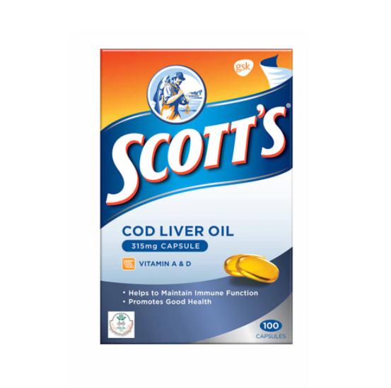 Scotts Cod liver oil 100s