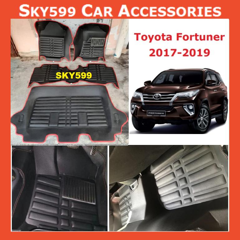 Toyota Fortuner 2017-2020 5D Car Floor Mat/Carpet