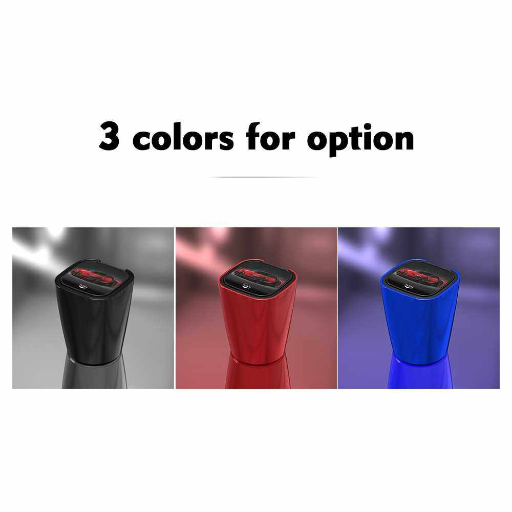 Best Selling Car Ashtray Car Ashtray Cup Holder with Blue LED Light Indicator Smokeless for Most Car Cup Holder (Black)