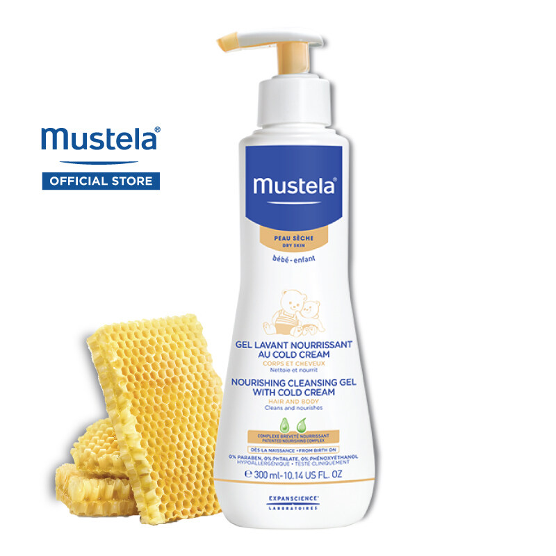 MUSTELA Nourishing Cleansing Gel with Cold cream for Dry Skin (300ml)