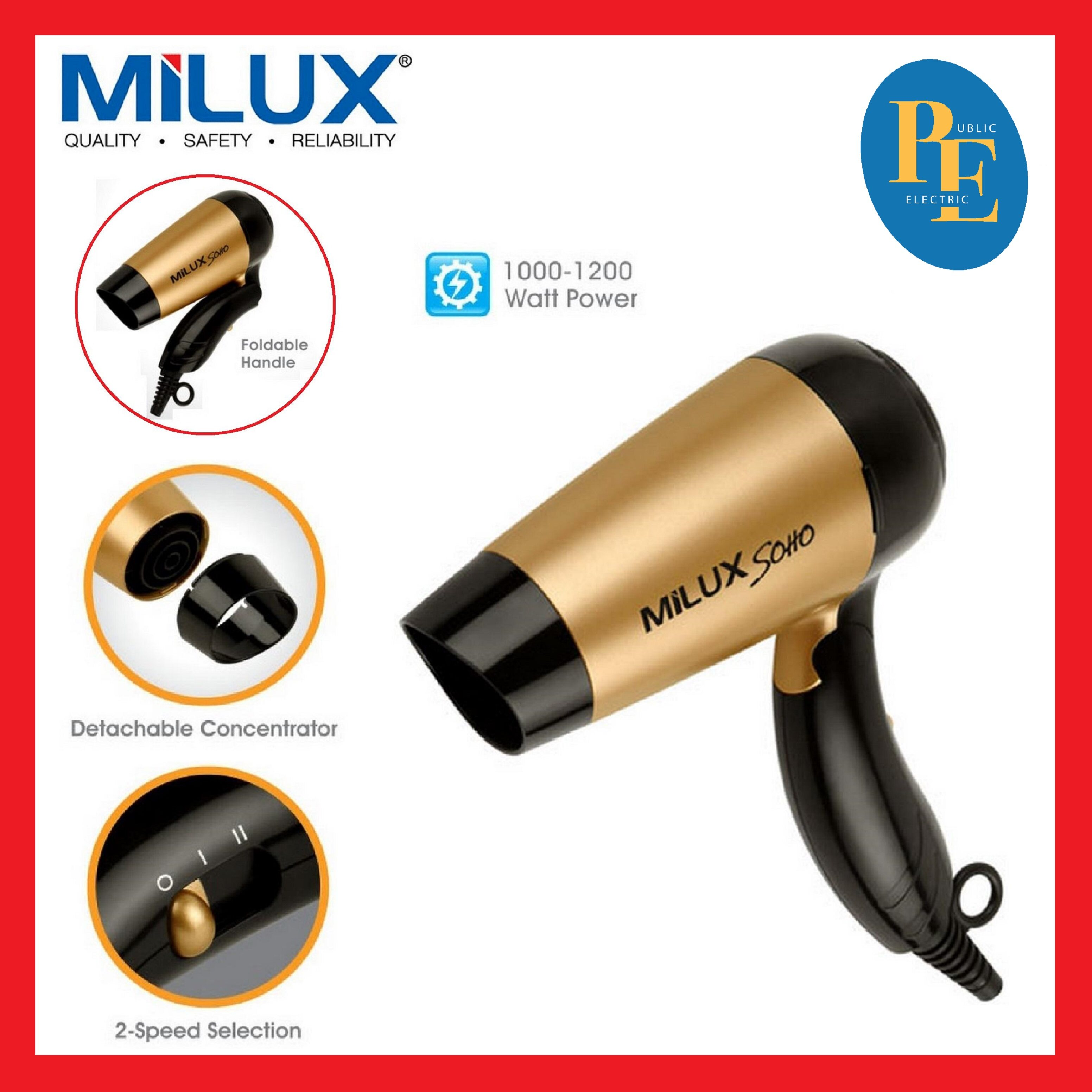 Milux Foldable Handle Hair Dryer - MHD-5901