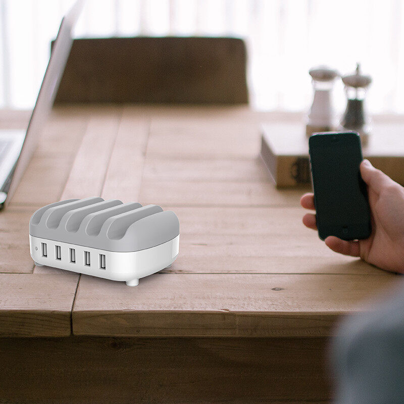 Orico 5-Usb 8A 40W Charger With Phone Stand (DUK-5P-UK-WH)