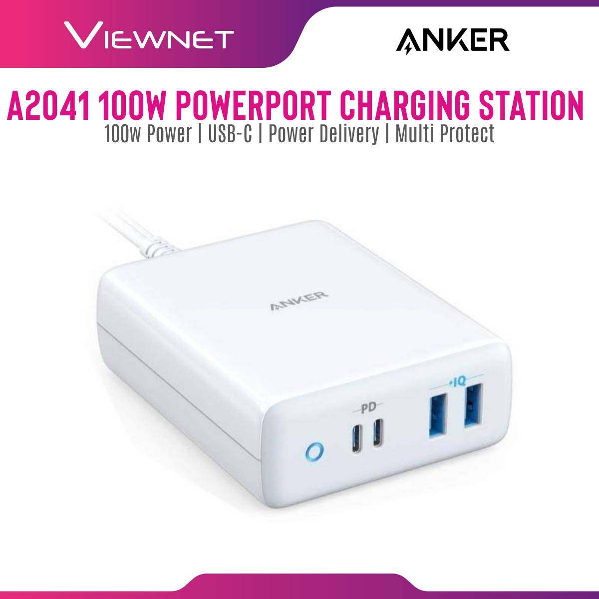 Anker A2041 100W PowerPort Atom PD 4 Type-C 4-Port Charging Station with Power Delivery - MY Plug