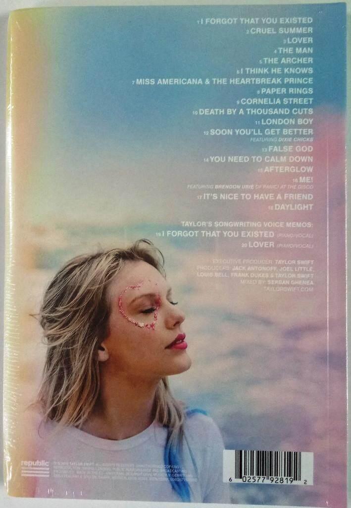 Taylor Swift 2019 Studio Album Lover Imported CD Deluxe Album Version 1