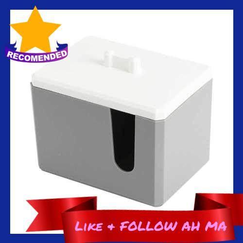 Best Selling Women Mini Cosmetics Cotton Pads Storage Container Practical Cotton Swabs Holder Organizer (Dark Gray)