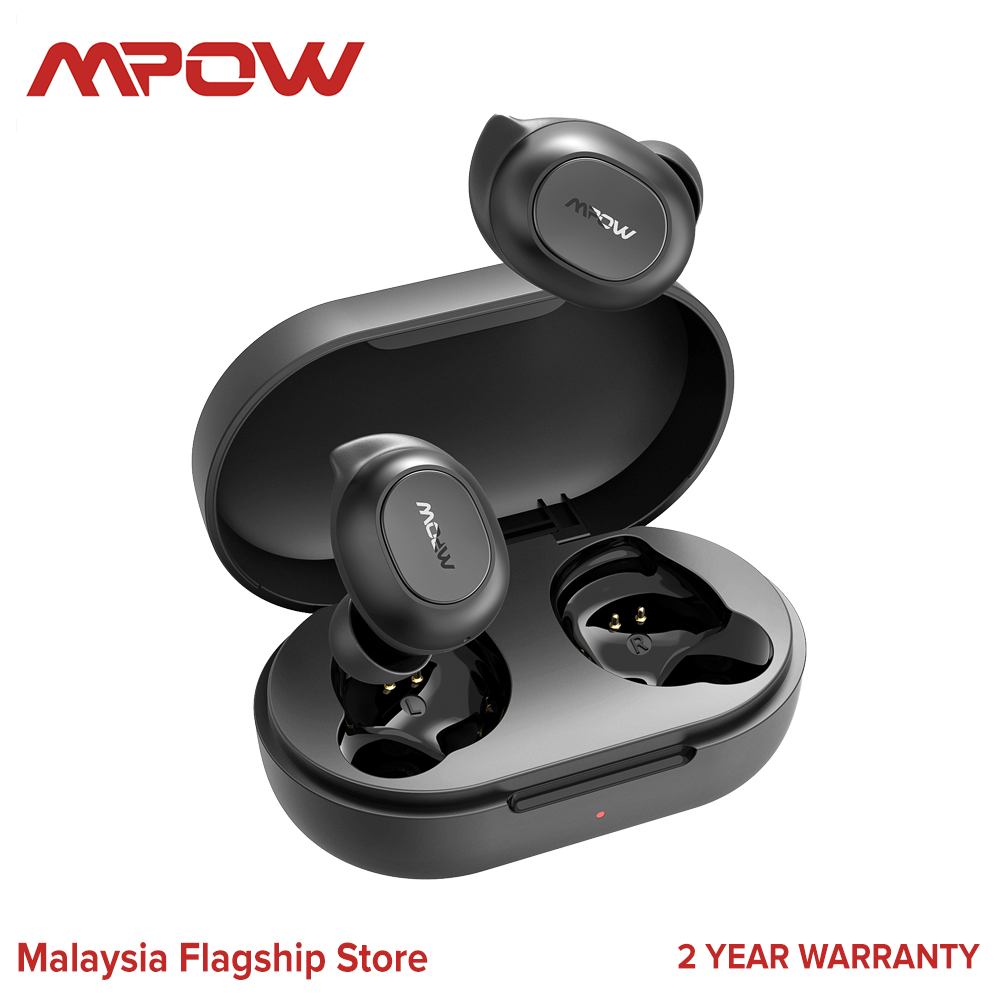 [NEW ARRIVAL] Mpow MDots Wireless Earbuds Bluetooth Headphones with Mic Punchy Bass Sound, Precise Button Control Wireless Earphones, IPX6 Waterproof Sport Earbuds