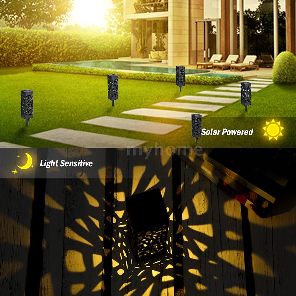 Bathroom Lighting - DC2V 0.06W Solar Powered Energy LED Lawn Lamp Outdoor Light 6 Pack Hollow-out De - 6 PACK / 4 PACK / 2 PACK