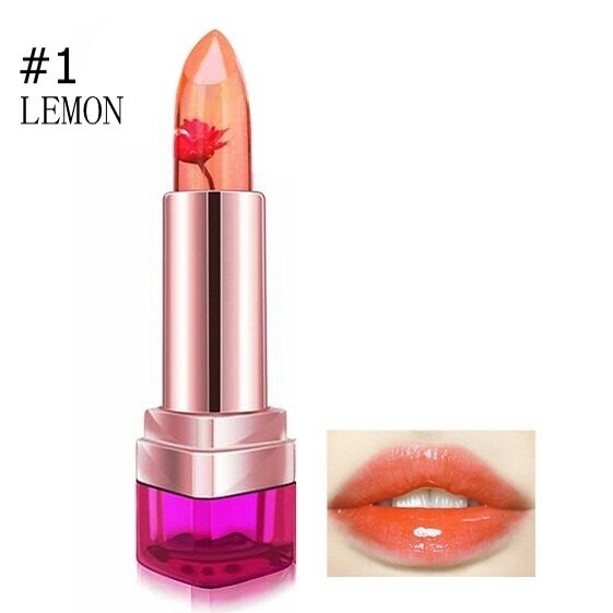 Jelly Flower Lipstick Temperature Color Changing Lip Gloss