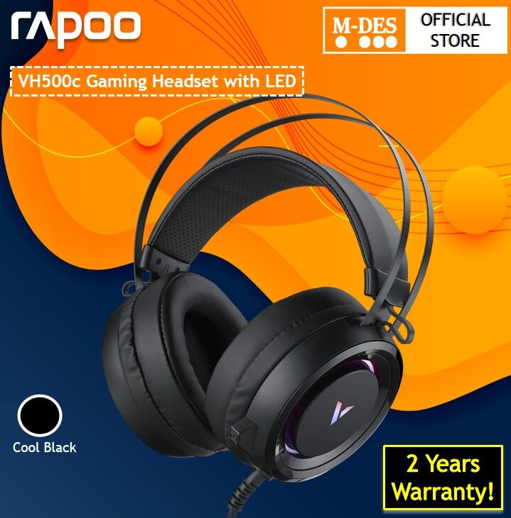 Rapoo VH500c  Wired LED Gaming Headset Headphone Virtual 7.1 Channel with Microphone [2 Years Warranty]