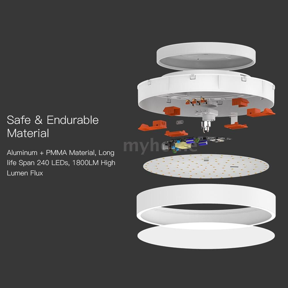 Lighting - AC220V 28W 240 LED Intelligent Ceiling Light Supported WIFI Smart Phone App/ BT Remote - Home & Living