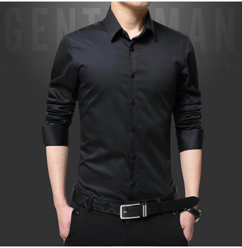 JYS Fashion Korean Style Men Long Sleeve Shirt Collection 220-6245
