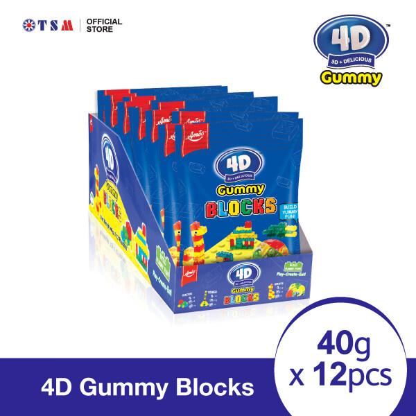 4D GUMMY BLOCKS 40G X 12 PACKS