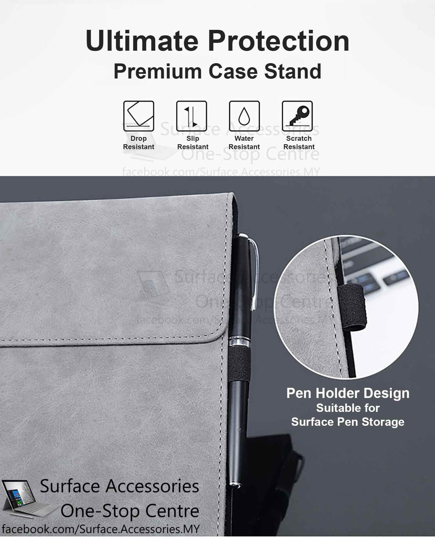 [MALAYSIA]Microsoft Surface Pro 6 Casing Surface Pro 6 Cover Premium Ultimate Case Stand Flip Case