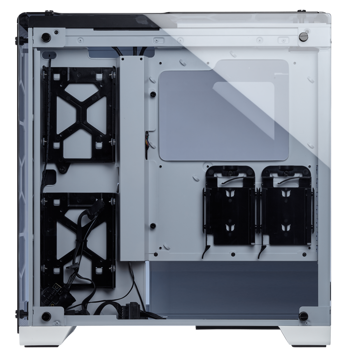 Corsair Desktop Casing Crystal Series 570X RGB – Tempered Glass, Premium ATX Mid-Tower Case (843591097260) (CC-9011110-WW) (White), Three SP120 RGB LED fans, 4-Panel Tempered Glass Panels, Direct Airflow Path design